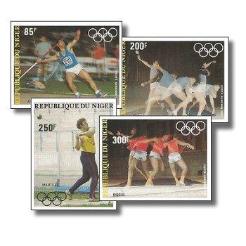 Olympische Sommerspiele 1984 - 4 Briefmarken ungezähnt postfrisch, Katalog-Nr. 846-849, Niger