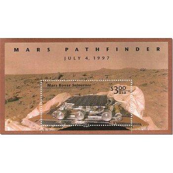 Mission Mars Pathfinder - Briefmarken-Block postfrisch, USA