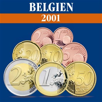 Belgien - Kursmünzensatz 2001
