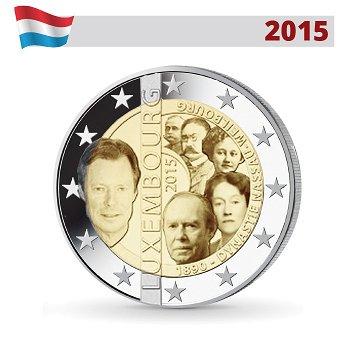 2-Euro-Münze 2015, 125. Jahrestag der Dynastie Nassau-Weilborg, Luxemburg