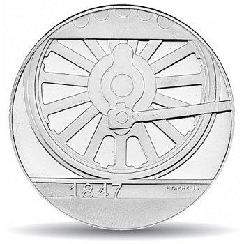 150 Jahre Schweizer Bahnen, 20 Franken Münze 1997 Schweiz, Stempelglanz