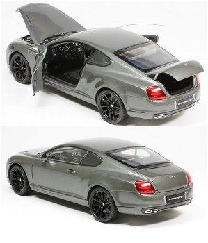 Modellauto:Bentley Continental Supersports, grau-metallic(Welly, 1:18)