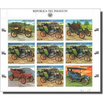 Alte Automobile - Briefmarken-Kleinbogen postfrisch, Katalog-Nr. 3995, Paraguay