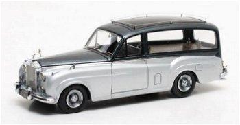 Rolls-Royce Silver Cloud- Simpson & Slater Bestattungswagen -von 1957, blau/silber(Matrix, 1:43)