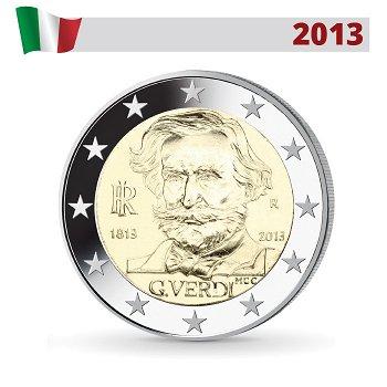 200. Geburtstag von Giuseppe Verdi, 2 Euro Münze 2013, Italien