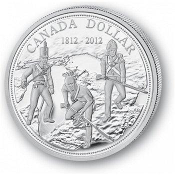 200 Jahre Krieg von 1812 - Silberdollar 2012, 1 Dollar Silbermünze, Canada