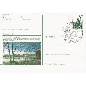 """8201 Obing - Bildpostkarte """"See Mit Kirche"""""""
