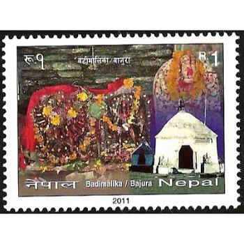 Badimalika Tempel – Briefmarke postfrisch, Nepal